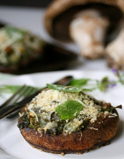 Kale Stuffed Portabella Mushrooms