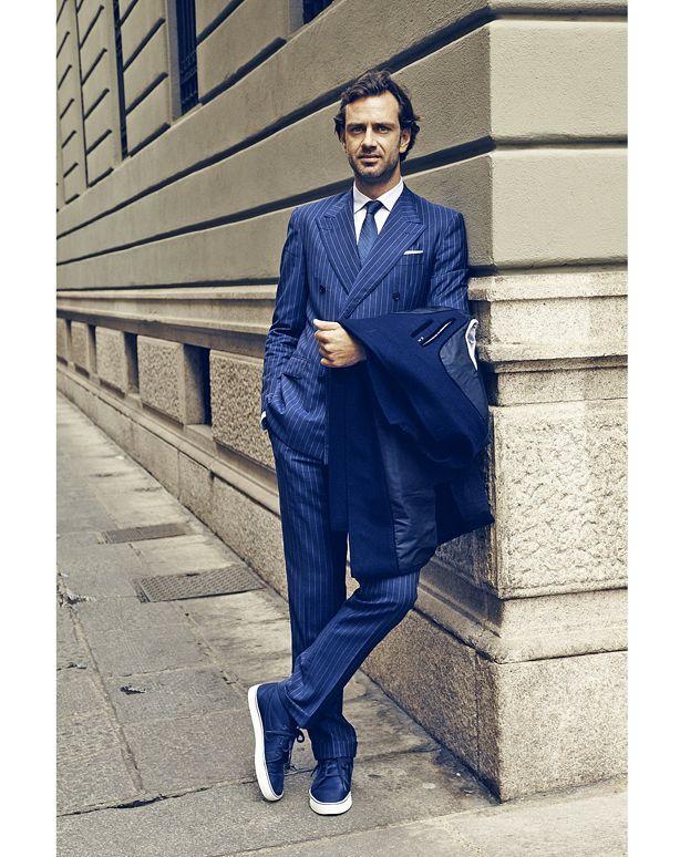Sneakers Blå Kostym