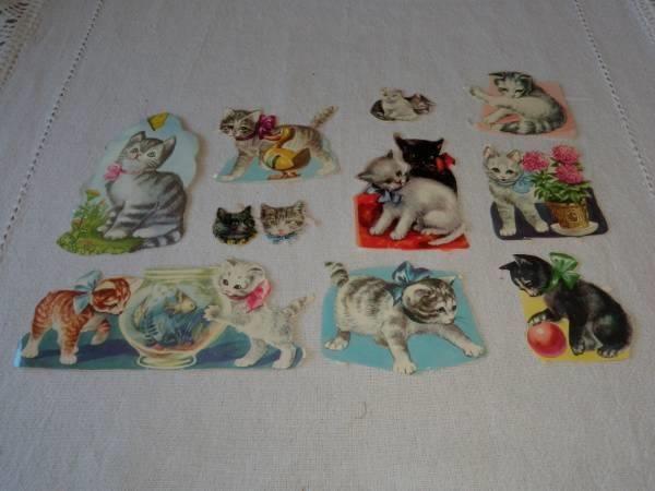 GLANSBILDER 11 enkelte bilder med Katter - Vasen yläkulma?