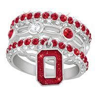 Ohio State Buckeyes Stackable Ring Set - The Danbury Mint