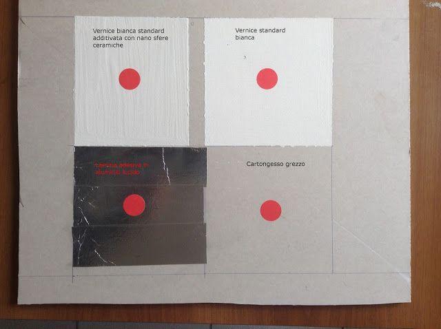 Termografia: Test materiale termoriflettente e vernice termoiso...