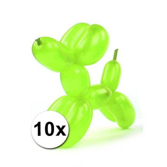 Figuur ballonnen neon gekleurd 10 stuks  Foliezakje met daarin 10 modelleerballonnen in neon kleuren. Een zakje bevat diverse neon kleurige ballonnen. De ballonnen kunt u gebruiken om bijvoorbeeld ballondieren mee te maken. De ballonnen zijn volledig opgeblazen ca. 120 cm lang.  EUR 2.25  Meer informatie