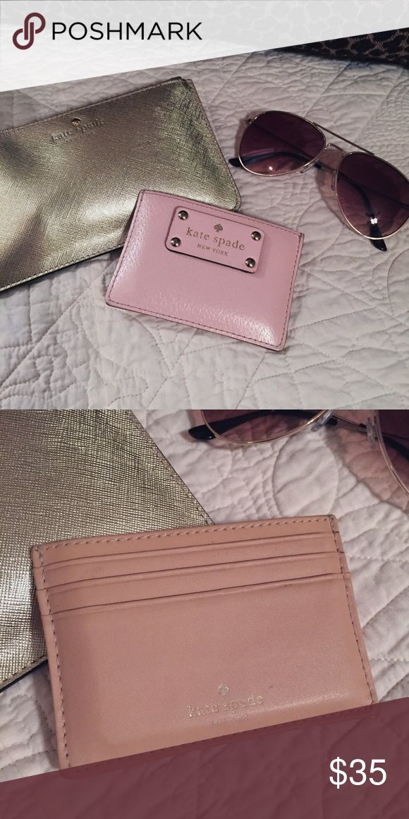 Kate Spade Card Case - EUC ❗️ THANKSGIVING SALE❗️💕 Ballerina pink KS card case 💕 EUC, no stains, cracking or peeling. ❌ NO TRADES. ❌ kate spade Bags Wallets