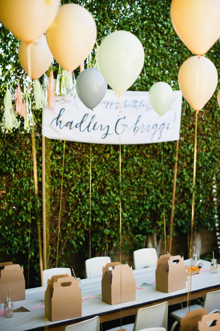 How fun is this party! http://www.stylemepretty.com/living/2015/08/10/joint-1st-3rd-sibling-birthday-party/ | Photography: Jordana Hazel - hazelnutphotography.com/