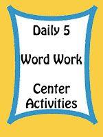 Daily Five Word Work Center Activities