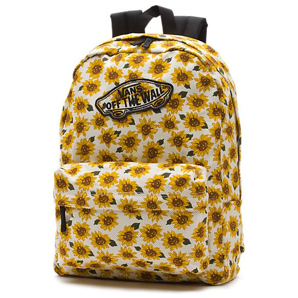 NEW! Vans Realm Sunflower Backpack