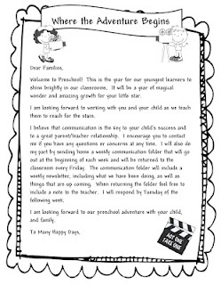Awesome Welcome to Preschool Letter