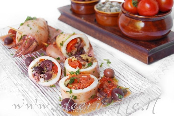 Ricetta Calamari imbuttunat (ripieni) alla napoletana