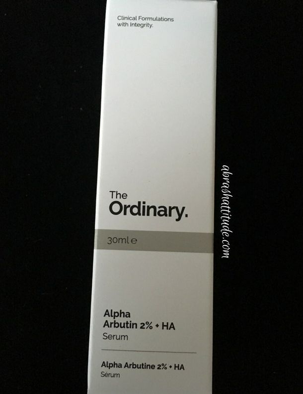 Hello, hello! Today I'm reviewing the final item from my October haul from The Ordinary – the Alpha Arbutin 2% + HA serum. [info in italics is taken from The Ordinary] Alpha Arbutin red…