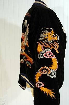 Vintage Japan US Soldier's Silk Satin Souvenir Map of Japan Jacket Tour Suka VG | eBay