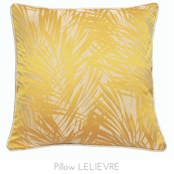 Tropical yellow pillow, Lelievre. http://www.kenisahome.com/blog