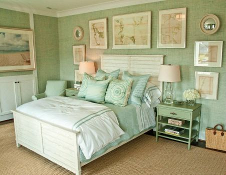 Serene Green Bedroom!