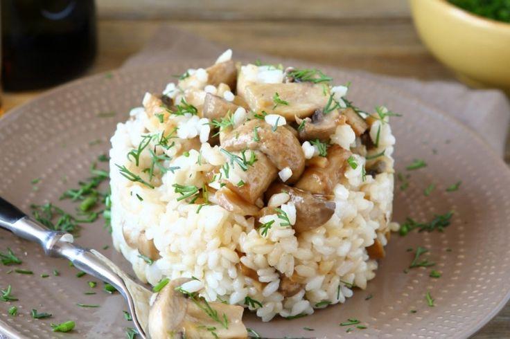 Riz...Beurre, champignons et échalotes