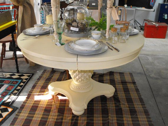 Pineapple Base Dining Table Kitchen Creamy Yellow By