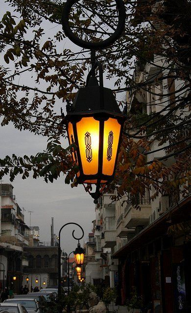Street Lamps on Straight Street in Old Damascus, Syria   Flickr - Photo by Colin McLurg