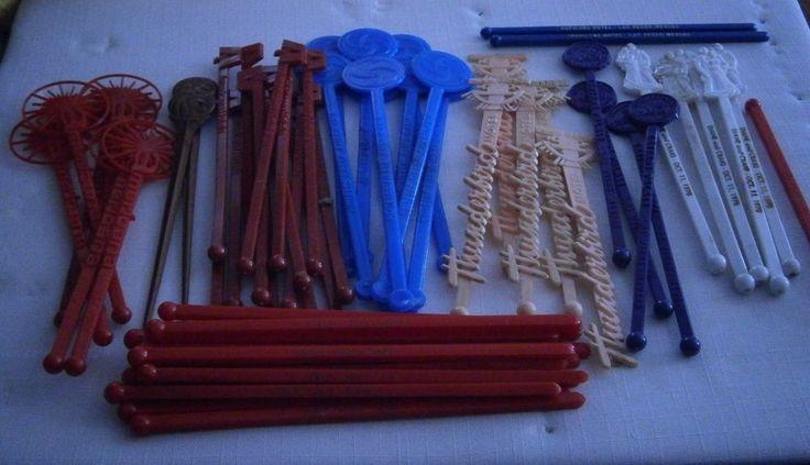 Vintage Swizzle Sticks THUNDERBIRD MOTEL CAESARS PALACE AMERICANA MGM WEDDING