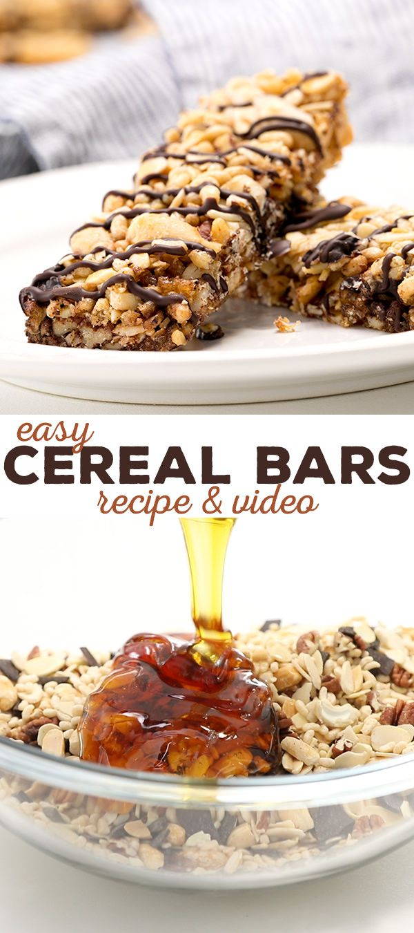 These healthy, grain free cereal bars are just like KIND bars, but you customize them and you control the amount of honey!