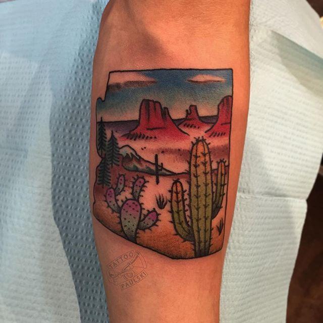 Cactus Tattoos On Arm Sleeve