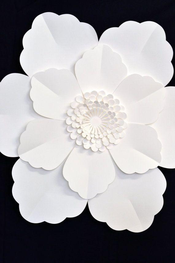 Flor de papel de 2 pies gigantes para la decoración de la boda