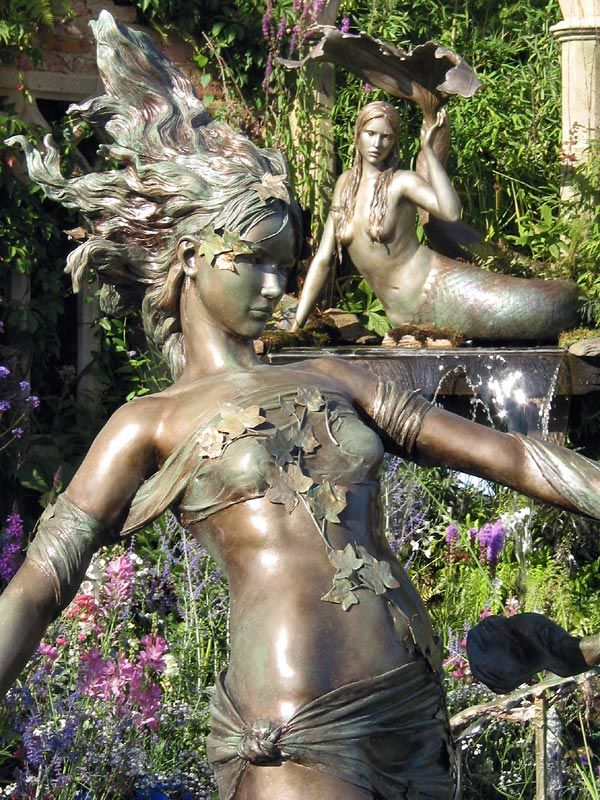 Mermaid sculptures: