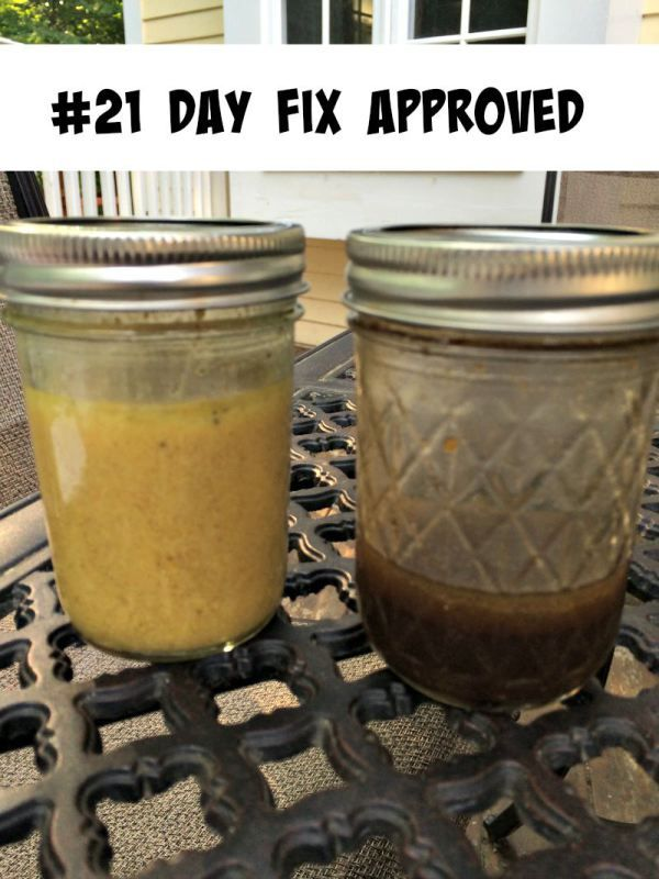 These Two 21 Day Fix Approved Dressings are both flavorful and healthy. You will never buy bottled dressing again!