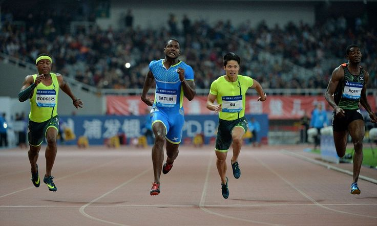 Gatlin records fastest 100m time in the world this year in Shanghai