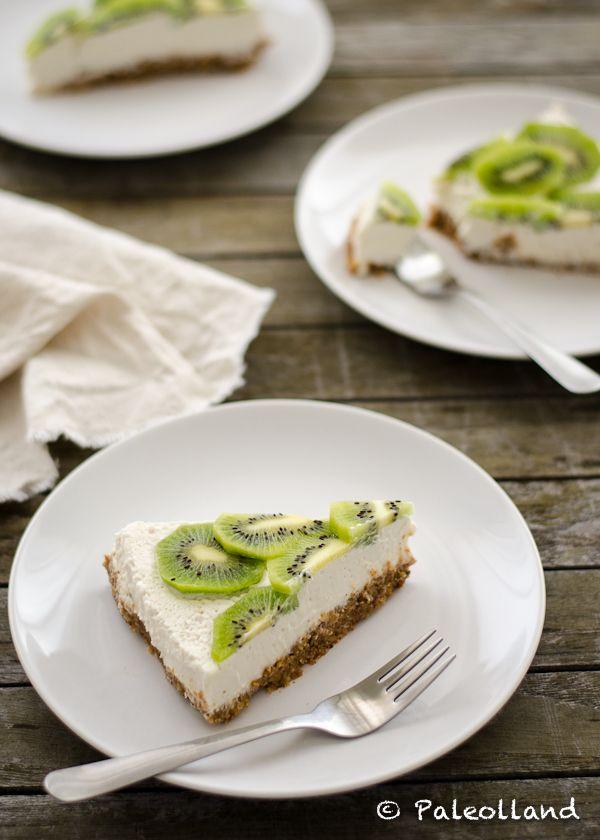 Paleo Kiwi Lemon Cheesecake - Paleolland