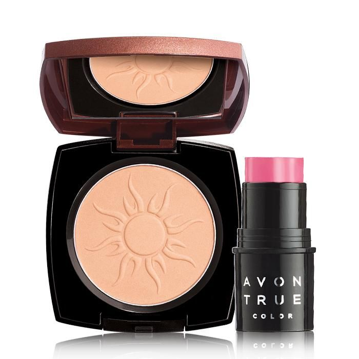 Valued at over $22.00, the set includes: Avon True Color Bronzing Powder in Sunkissed Glow Believable bronze, Avon True Color Bronzing Powder... Silky, luminous bronzer blends easily for a streak-free, radiant look. BENEFITS• Makes skin appear bronzed, even after tan fades• Provides an instant shimmery glow• Illuminates skin• Provides an even-looking complexion• Blends easily• Shimmery glow finish• Light to medium coverage• .37 oz net wtTO U