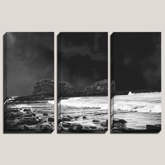 """Chimes of Freedom"" Nicaragua, Magnific Rock Photography, Giclee Large Wall Canvas Art, Ocean Art, Surf Decor, Black and White Art, Storm Photography, Landscape Photography, by JoelleJoy"