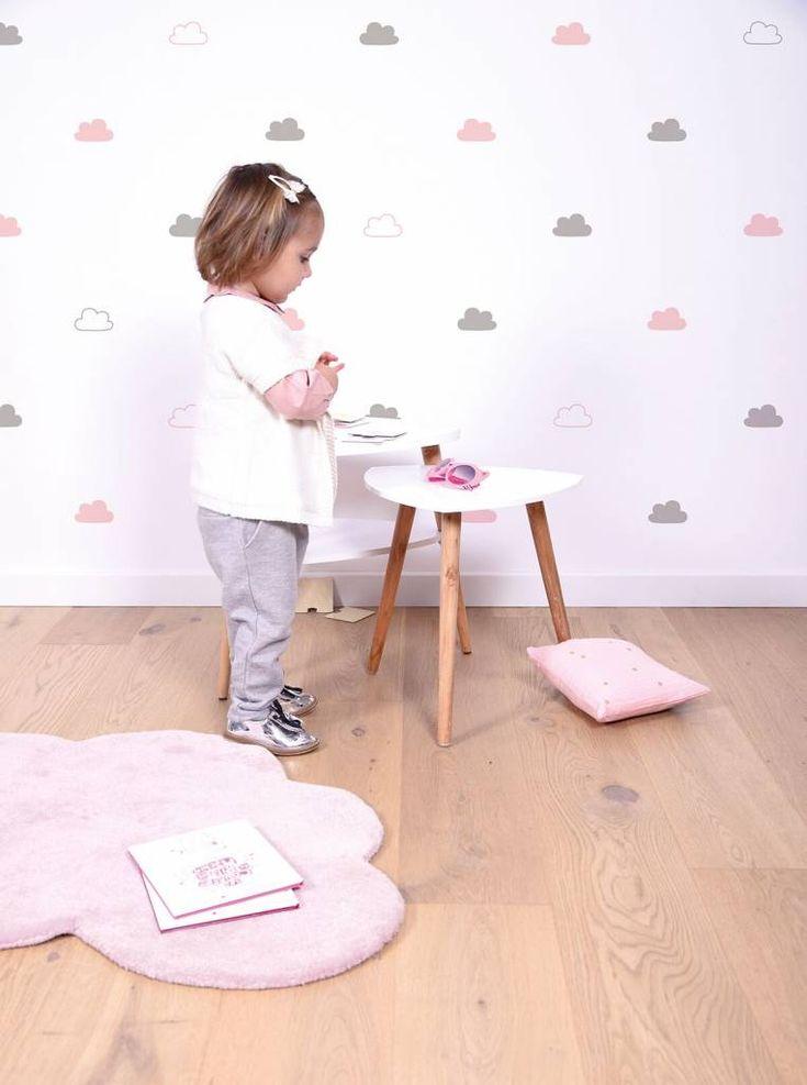 Laat je kinderen op wolkjes lopen met dit super schattige zachte vloerkleed van Lilipinso!