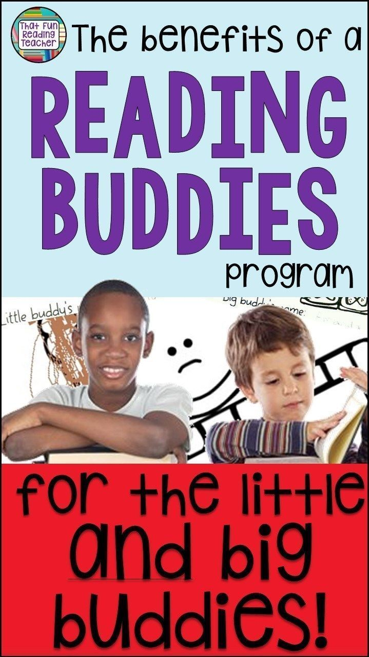 The benefits of a Reading Buddies program for the little and big buddies! #education #readingbuddies #reading #earlyyears #earlylearning #iteach #iteachtoo #kindergarten #benefits #fun