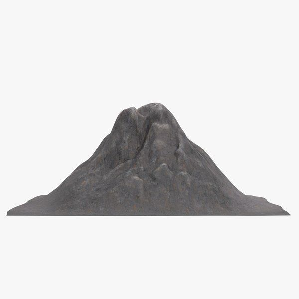 how to make a volcano mountain model
