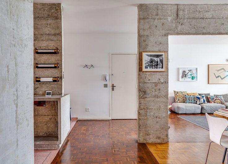 Madeira e concreto: harmonia entre pisos e pilares