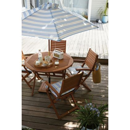 peru 4 seater round garden furniture set with armchairs at homebase be inspired and