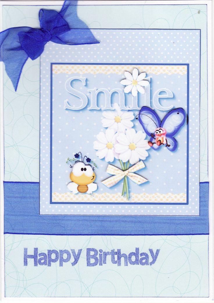 3D 'Smile - Happy Birthday' Card