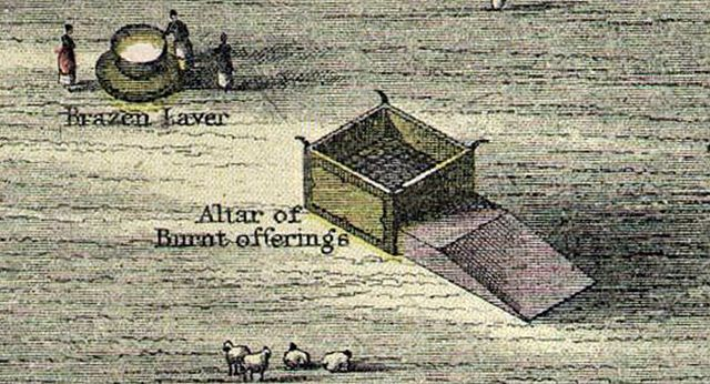 What Was the Meaning of the Brazen Altar of the Tabernacle?: Brazen Altar Illustration