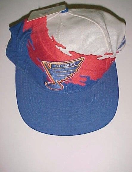 St. Louis Blues NHL Logo Athletic Red Blue Adult Unisex Baseball Cap 1 Size New #LogoAthletic #BaseballCap