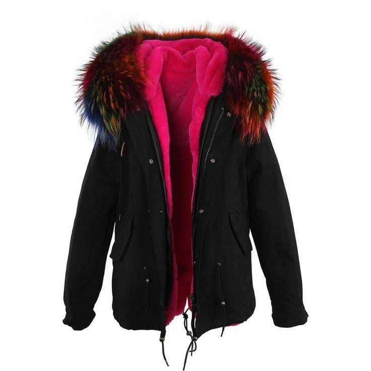 Make Your Own Design Raccoon Fur Hooded Parka Jacket Coat Women S Warm Short New #MakeYourChina #Parka #Casual