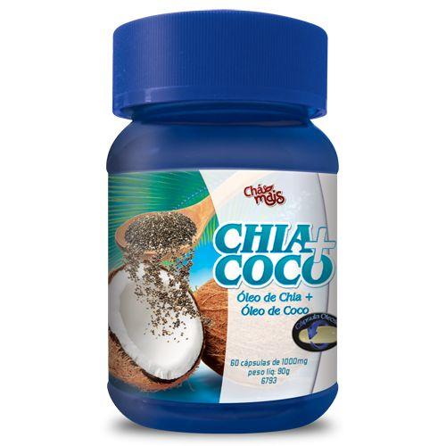 Óleo de Chia+ Coco em Cápsulas - CháMais