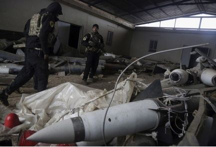 """Report: Chemical weapons found in ISIS storehouses in Iraq The chemical substance present at weapons warehouse has yet to be identified, with French, Iraqi military commanders referring to it simply as """"poison,"""" Sky News reports • Weapons stash near Tigris River includes Scud missile.The Islamic State group was planning to launch long- and short-range missiles tipped with chemical and biological warheads from western Mosul, Iraqi special forces said, according to a Sky News report."""