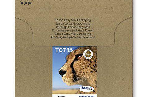 Epson – T0715 – Cartouche d'encre d'origine DURABrite Ultra – Multipack Noir, Cyan, Magenta, Jaune [Emballage « Déballer sans s'énerver par…