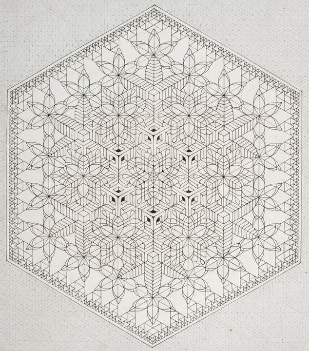 India #3, ink and graphite on paper - 2011, Kris Davidson