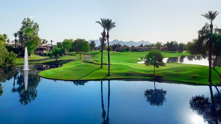 Not a bad view to play some golf at Hyatt Regency Scottsdale.