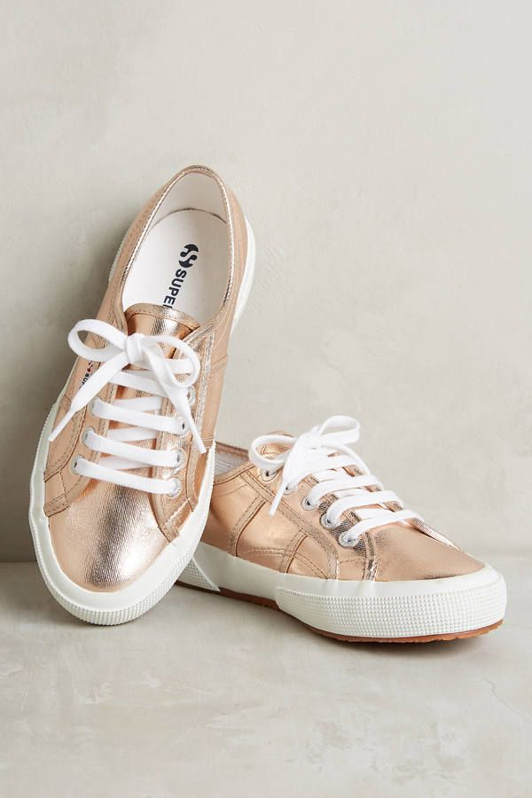 Superga Metallic Rose Gold Sneakers