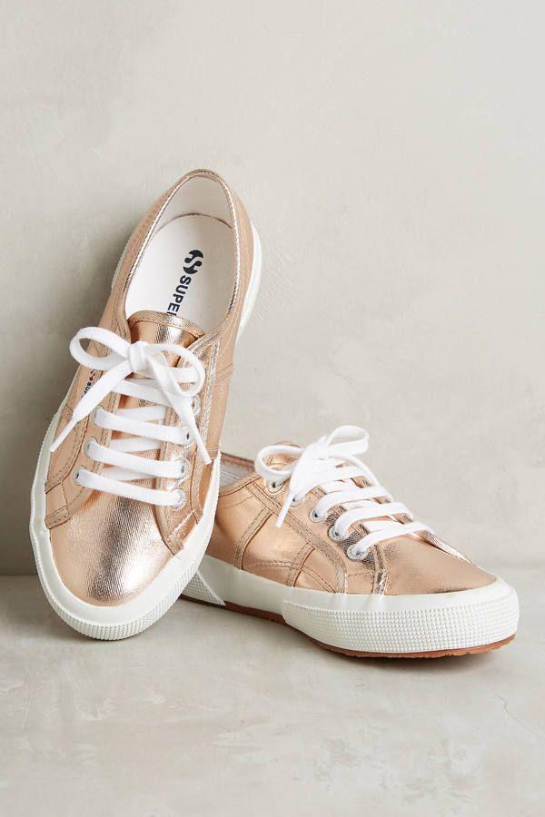 Superga Metallic Rose Gold Sneakers