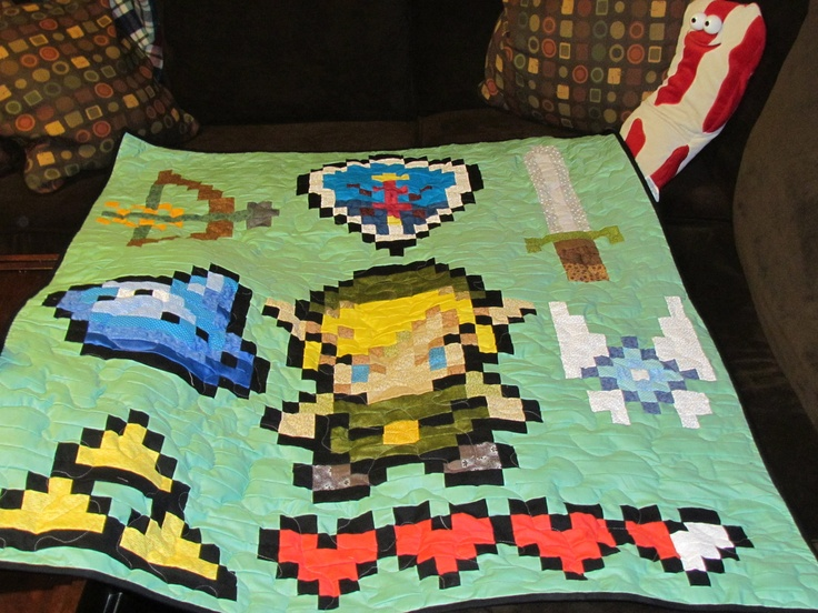 Legend of Zelda Lap Quilt / Big Baby /toddler quilt. $95.00, via Etsy.