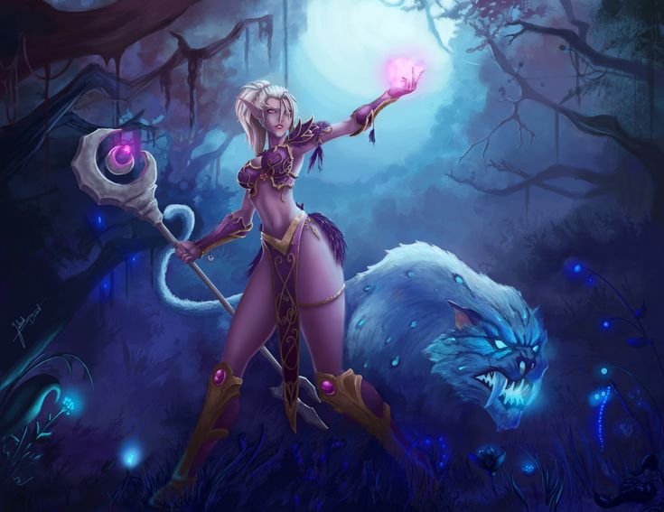 Night Elf Mage by ArtJake