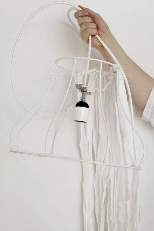 Selber machen 2: lässige Bänder-Lampe