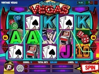 Vintage Vegas is a 5 reel, 50 payline video slot game by Rival Gaming. This online slot has Wilds, Scatters, Bonus Round and Free Spins feature.
