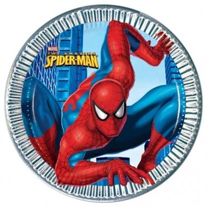 Rêves & Merveilles Paper Spiderman Party Plate / Spiderman Set de 8 assiettes en carton